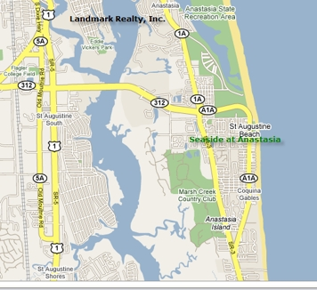 It's only about 50 miles to Daytona or Jacksonville from the condo. Anastasia by the Sea condos are in a great island location.
