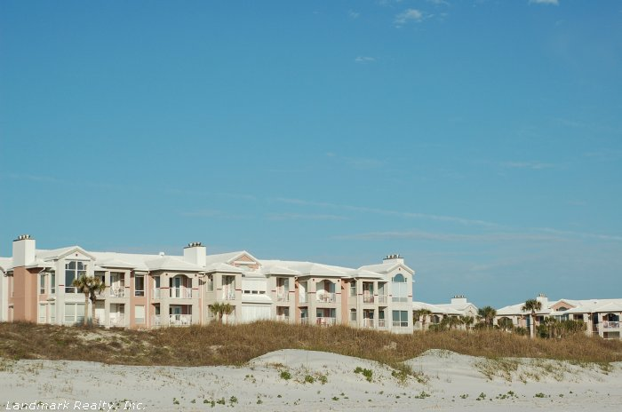 Crescent Beach is a wide sandy beach with high dunes.