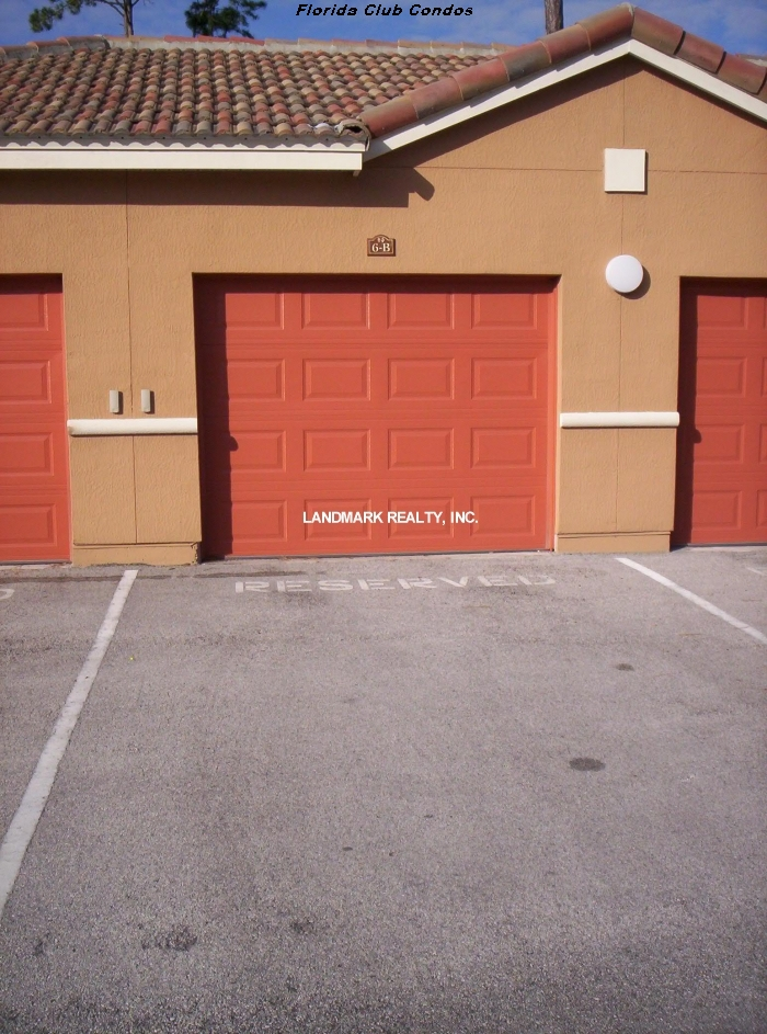 There is plenty of parking at Florida Club Condos. Some units include one car garages.