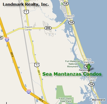 Sea Matanzas Condo Map