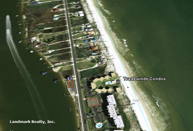 Click here to enlarge the aerial view of Tradewinds Condos