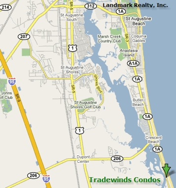 Tradewinds Condos are located in Crescent Beach, FL, about 7 miles south of St. Augustine Beach.