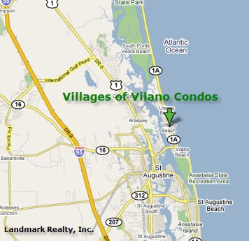 Villages of Vilano Condo Map